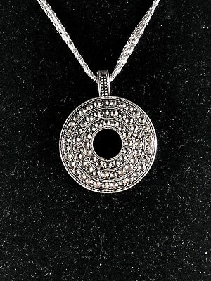 eabe04f4d1122 GENUINE PREMIER DESIGNS Silver Marcasite Necklace & Earring Set (Retired,  New)