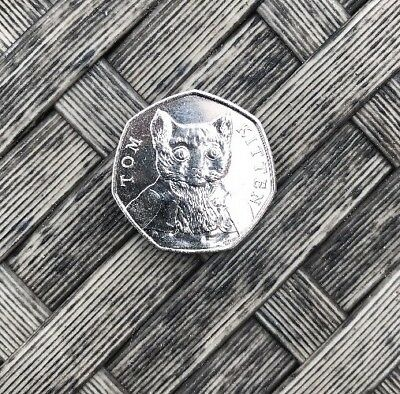 New 2017 Beatrix Potter  Tom Kitten Un-Circulated 50P Coin From Sealed Bag