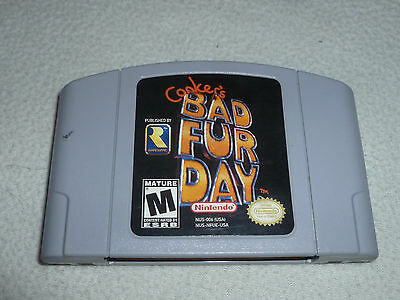 Nintendo 64 N64 Video Game Conkers Bad Fur Day Cartridge Only Cart Rare Ware >