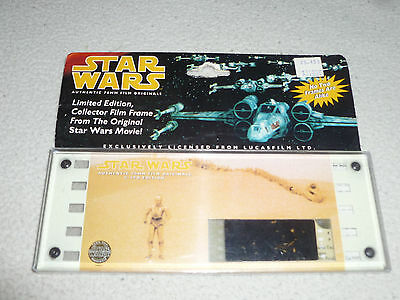 New Stars Wars Limited Edition Collector Film Frame 70Mm C-3Po 1995 Lucasfilm Le