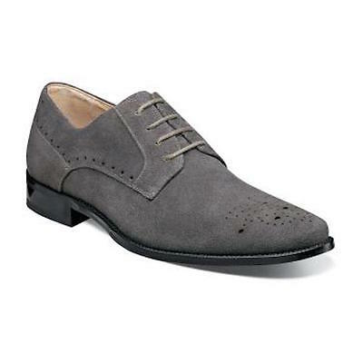 Men/'s Stacy Adams Dress Casual Shoes Gray Suede Leather Oxford KENSINGTON 25002