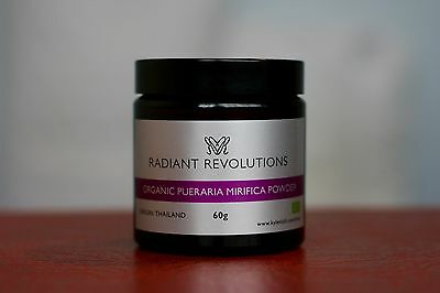 100% Organic Certified Pueraria Mirifica Powder (No Magnesium Stearate) - 60g
