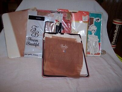 Vintage Ladies New Seamless Stockings Size 9  Lot Of 9 Pairs
