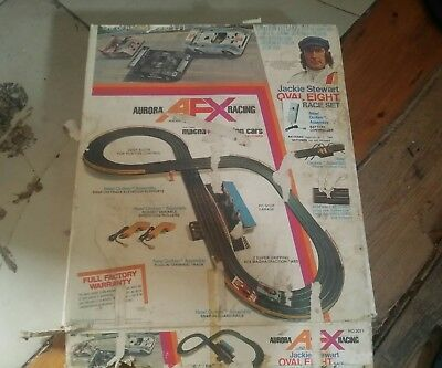 Afx Aurora Slot Car Set jackie stewart parts
