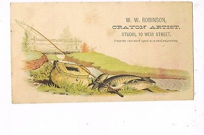 VICTORIAN ADVERTISING / TRADE Card     W. W. ROBINSON, CRAYON ARTIST