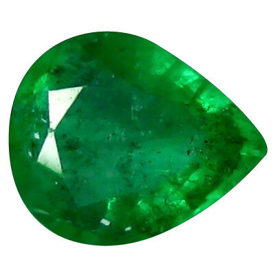 0.37 ct Incomparable Pear (5 x 4 mm) Unheated / Untreated Colombia Emerald