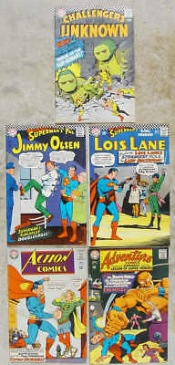 5 different 1967 D.C. superhero titles ACTION, ADVENTURE, OLSEN +2. All FINE