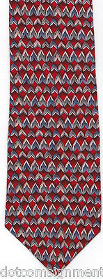 """The Cocktail Collection """"VODKA TONIC"""" Men's Neck Tie All Silk Red Geometric"""