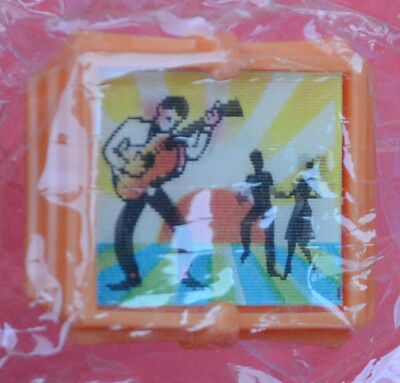 FLICKER / WIGGLE RING R&L cereal toy Rock and Roll Guitarist  - MISB