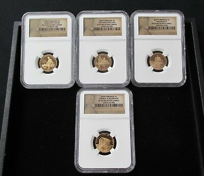 2009-S Bronze 4-Coin Lincoln Cent Set - All NGC PF 69 Ultra Cameo