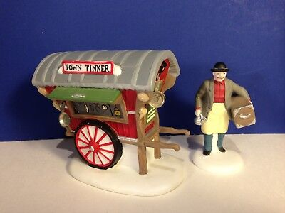 Dept 56 Dickens Village TOWN TINKER Set of 2 w/ box Combine Shipping!