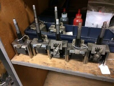Lot of 7 Used Graphic Whizard Numbering Machine Heads