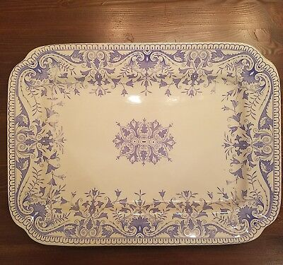 Antique T & R Boote Tournay Blue Transferware Platter (3 Available)