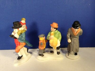 Dept 56 Dickens Village CHRISTMAS CAROL CHARACTERS Set of 3 w/ box Combine Ship!