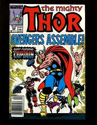 Thor #390 (News) FN- Frenz Breeding Avengers Captain America Lifts Thor's Hammer
