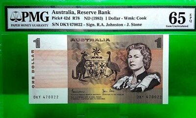 MONEY AUSTRALIA 1 DOLLARS 1983  RESERVE BANK PMG  GEM UNC  PICK #42d