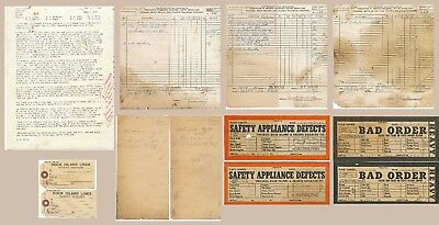 1961-1979 Chicago Rock Island Pacific Railroad Yardmaster Paper Work Collection