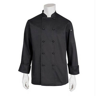 Chef Coat Jacket Black Long Sleeve Darling Chefworks Hospitality Cook Medium