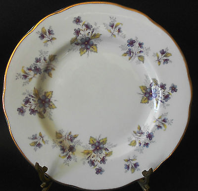Duchess Bone China England Side plate - Violets Back stamp in Reverse  RARE