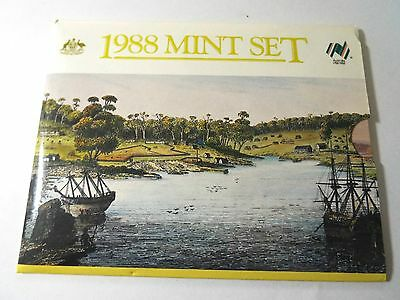1988 Royal Australian Mint Uncirculated Coin Set - First time introduction of $2