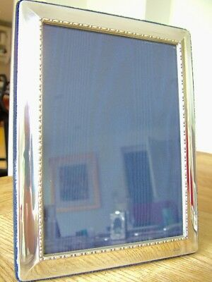 "GOOD QUALITY CARR'S  6.75"" X 4.75"" hm1995 SOLID SILVER PHOTO PICTURE FRAME NR"