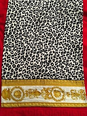 Versace Medusa Baroque  Leopard Towel Medium  Authentic Made Italy
