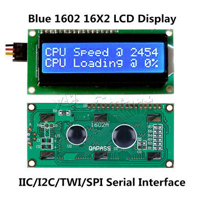 1/2/5/10PCS 1602 16x2 Character LCD Module Blue HD44780 Controller For Arduino