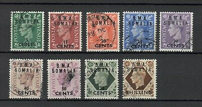 s23092) B.M.A. SOMALIA 1948 Lot of fine used stamps