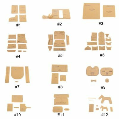 Clear Acrylic Stencil Template Leather Craft Pattern Card Holder Wallet DIY Tool