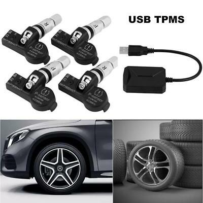 Car TPMS USB Tire Pressure Monitor System Internal Sensors For Android IOS DVD