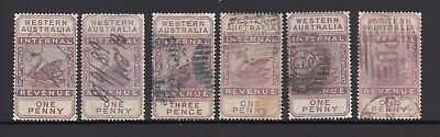 5 x 1d and 1 x 3d Internal Revenue Stamps used