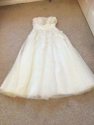 wedding dress size 8 preowned