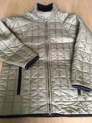 Barbour Mens Large 49in Allendale Quilted Jacket Lightweight Khaki Beige