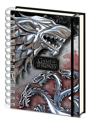 Game Of Thrones Stark And Targaryen A5 Hardcover Notebook New Lined Official
