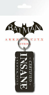 Batman Arkham City Certified Insane The Joker Rubber Keyring New Official