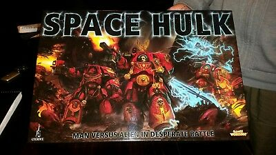 Warhammer 40k Space Hulk As New. Complete but missing rule book and mission book