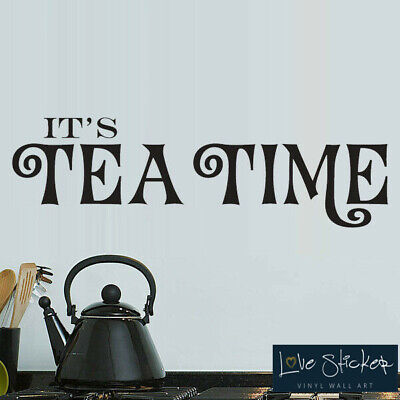 Wall Stickers Tea Time Kitchen Food Family Love Quote Art Decals Vinyl Decor Roo