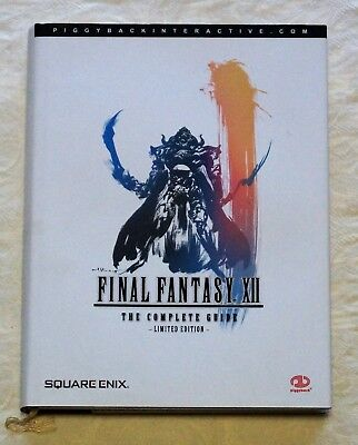 Final Fantasy XII Official Strategy Guide Limited Edition Gold Embossed Cover