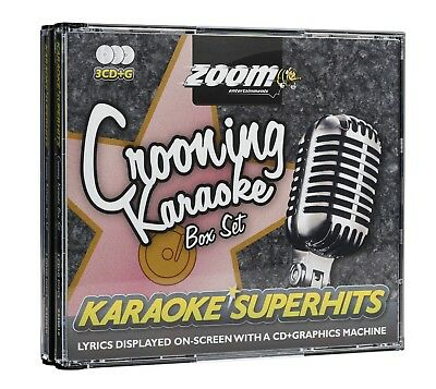 Zoom Karaoke CD+G - Crooning Superhits - Triple CD+G Karaoke Crooners Disc Pack