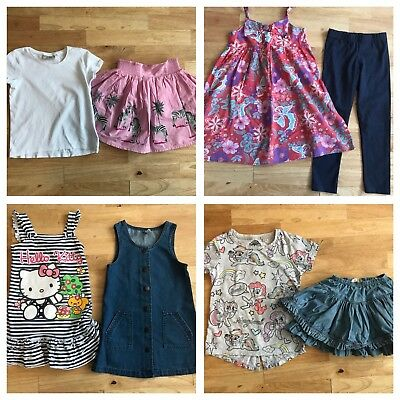 Girls summer bundle 5-6 years dresses skirts tops outfits floral denim