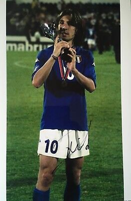 Andrea Pirlo signed Image H 12x8 Italy photo UACC registered dealer AFTAL RACC