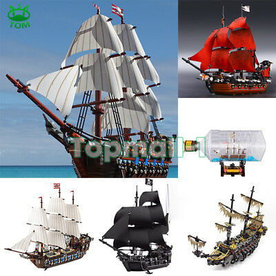 16006/16009 Black Pearl Ship with Figures Pirates of the Caribbean Blocks Toy