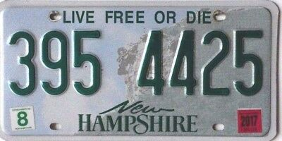 "USA Number Licence Plate NEW HAMPSHIRE ""LIVE FREE OR DIE"""