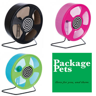 """Large Solid Plastic Hamster Exercise Wheel With Stand 20 cm 8"""" By Trixie NEW"""