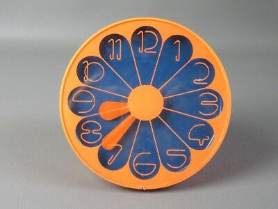 1960 Vintage Orologio Design Arancione Space Age Atomic Clock Orange Rare