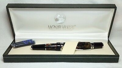 Monteverde Charisma Brown Marble Fountain Pen New In Box Product MV40091