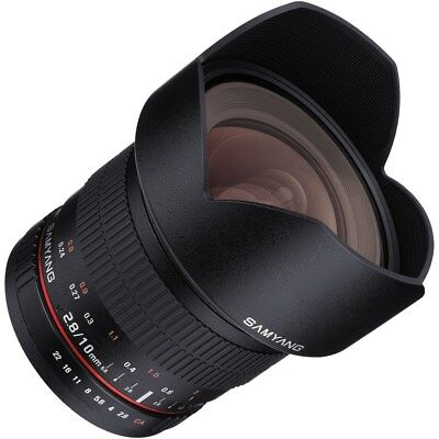 Samyang 10mm f/2.8 ED AS NCS CS Lens Nikon F AE Chip Mount RR