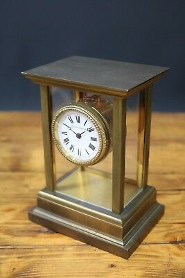 Matthew Norman Carriage Clock Skeleton Swiss Mantle Brass & 5 Window TLC