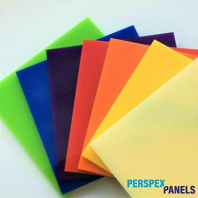 Coloured & Clear Acrylic Panels, 3mm, Cut to Size Sheets, Perspex/Altuglas