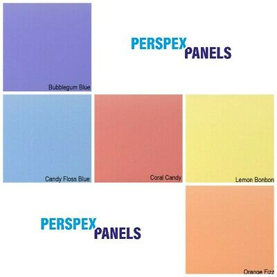 Acrylic Panels, 3mm, Cut to Size Sheets, Perspex/Altuglas, 8 Pastel Colours